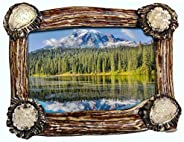 Mountain Mikes Antler Base Picture Frame 5&quo