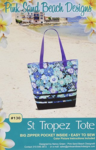 Pink Sand Beach Design St Tropez Tote Pattern by Pink Sand Beach Design