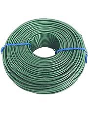 Tie Wire - 1 Roll of Premium Epoxy Coated 16 Gauge Tie Wire - Green PVC Plastic Coating - 2 1/2lb - 16 GA - Rebar, Garden, Or Plant Tie Wire (16 Gauge Epoxy Coated, 1)