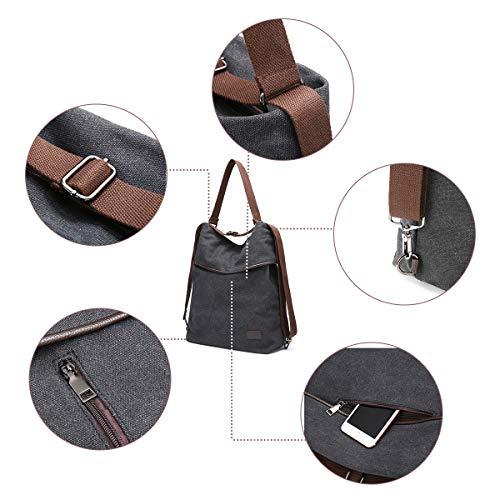 Viaggio Borse Nero Lavoro Per Borsa Tela Daypack A Shopping Grandi In Zaino Blu Casual Tracolla Joseko Spalla Multifunzione Donna 4qaIaB
