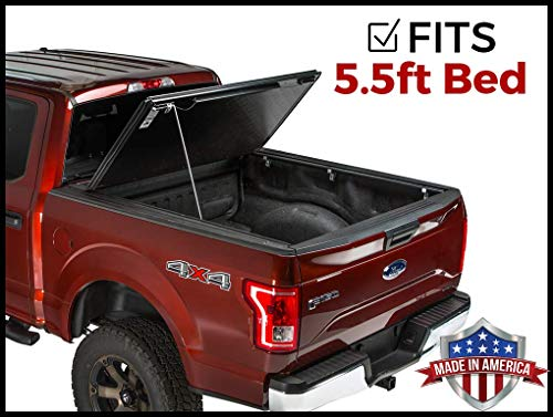 Gator Evo Hard Bi-Fold (fits) 2015-2019 Ford F150 5.5 FT Bed ONLY Bi Folding Tonneau Truck Bed Cover (GC25019) Made in The USA