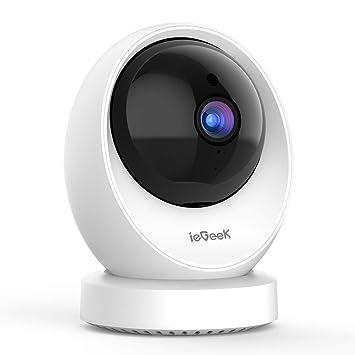 ieGeek Cámara de Vigilancia WiFi Interior, Cámara IP WiFi 1080P HD, Detección Humana, Grabacion Continua, Audio de 2 Vías, FHD, Sensor de Movimiento, ...