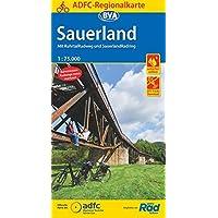 ADFC-Regionalkarte Sauerland mit Tagestouren-Vorschlägen, 1:75.000, reiß- und wetterfest, GPS-Tracks Download: Mit…