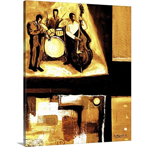 (Everett Spruill Premium Thick-Wrap Canvas Wall Art Print Entitled Musical Trio I 20