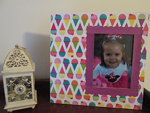 - 5x7 Ice Cream Cone Themed - Hand Decorated Picture Frame