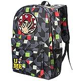 YOURNELO Cool WWE World Wrestling Federation Backpack Canvas School Bag Bookbag (C Grid Red)