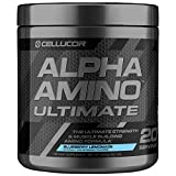 Cellucor Alpha Amino Ultimate EAA & BCAA Recovery Powder + HMB, Essential & Branched Chain Amino Acids For Post Workout Hydration, Blueberry Lemonade, 20 Servings