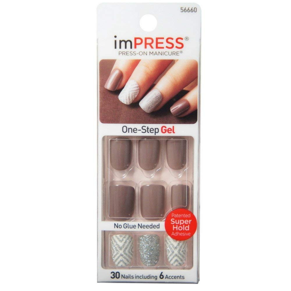 imPRESS press-on manicure Ultra Gel Shine, 30 Nails (Styles May Vary)