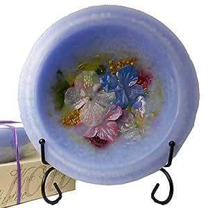 "Habersham - Hydrangea Wax Pottery Bowl (7"" vessel)"