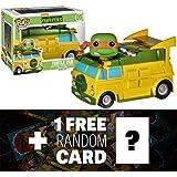 Turtle Van: Funko POP! Rides x TMNT Vinyl Figure + 1 FREE Official classic TMNT Trading Card Bundle