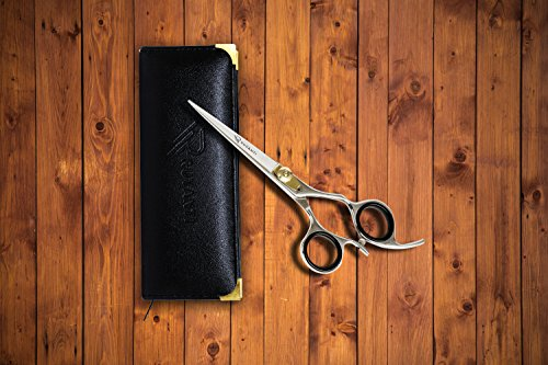 Ruvanti Professional Razor Blades Hair Scissors - Barber Hair Cutting Scissor - 6.5'' Japanese Super Cobalt Stainless Steel Hair Shear - Hairdresser Scissor/Barber Scissors with Gold Painted Screw by Ruvanti (Image #5)