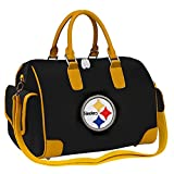 NFL Pittsburgh Steelers Deluxe Handbag Bowler Bag Purse