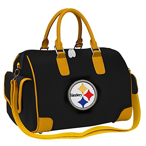 NFL Pittsburgh Steelers Deluxe Handbag Bowler Bag Purse by CH14