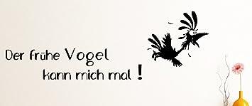 Wandtattoo Der Fruhe Vogel Kann Mich Mal Ca 130 X 40 Cm Schwarz