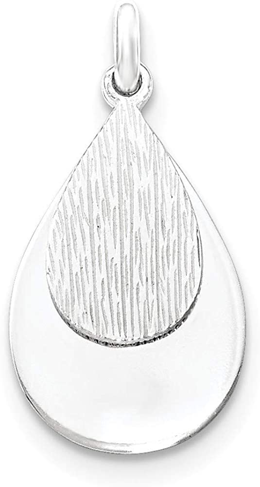 925 Sterling Silver and Textured Pendant