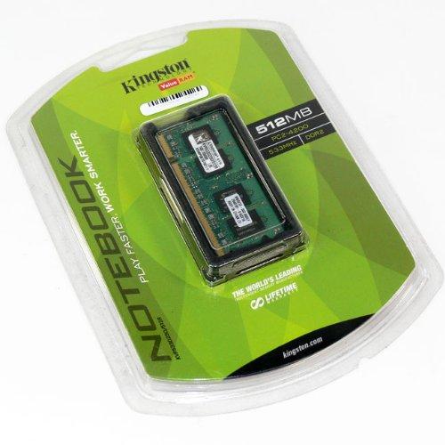 Memoria RAM 512MB Kingston ValueRAM - - SO DIMM 200-pin - DDR II (KVR533D2S4/512)