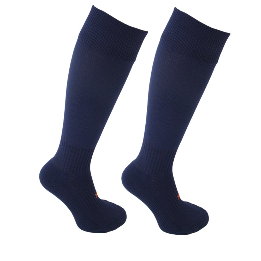 STAY UP Kid's Sports Socks 2 Pairs with Stay On Technology – Twin Pack Navy