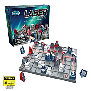 Think Fun Laser Chess Two Player Strategy Game and STEM Toy for Boys and Girls Age 8 and Up - MENSA Award Winner