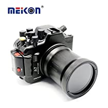 Meikon Aluminum Alloy camera housing for diving 100M/325ft underwater waterproof camera Aluminum case for Sony A7