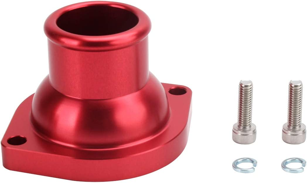 Red HiwowSport Billet Aluminum Thermostat Housing for Chevy,GMC,LS Series