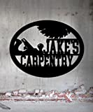 Carpentry Woodworker - Custom Metal Shop Sign - Metal Wall Art Great Gift Made In USA Carpentry Wood Worker Steel Sign