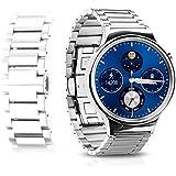 HOCO Acciaio Inossidabile Sostituzione Cinturino Watch Lussuoso Braccialetto ,Cinturino Orologio Strap Cinturino per Huawei Smart Orologio(Huawei-Argento)
