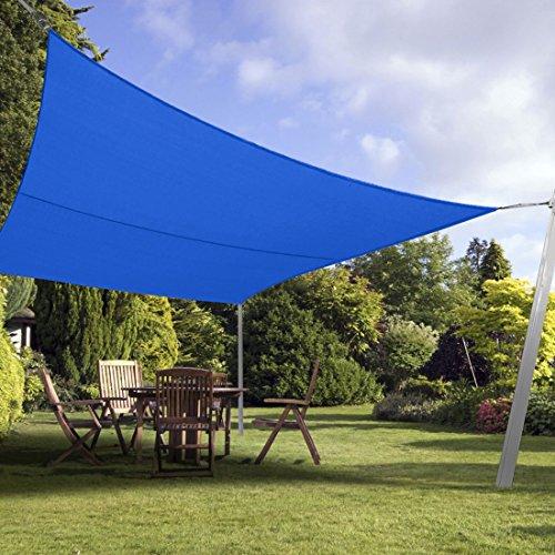 Peaktop 98% UV Block 24x24 Ft Square Sun Shade Sail Canopy Sun - Import It All & Peaktop 98% UV Block 24x24 Ft Square Sun Shade Sail Canopy Sun ...