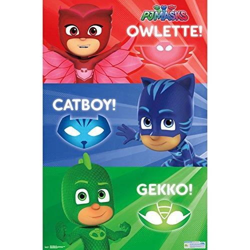 Amazon.com: Trends International PJ Masks-Trio Premium Wall Poster, 22.375