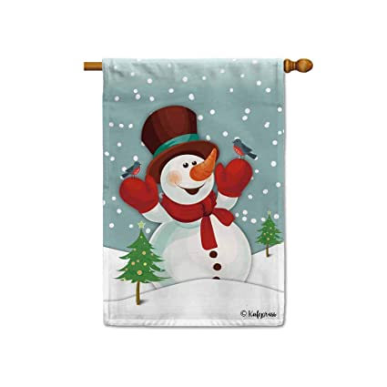 Amazoncom Kafepross Happy Winter Holiday A Cute Snowman In The