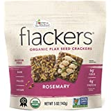 Doctor In The Kitchen, Flackers Organic Flax Seed Crackers, Rosemary Flaxseed, 5-Ounce