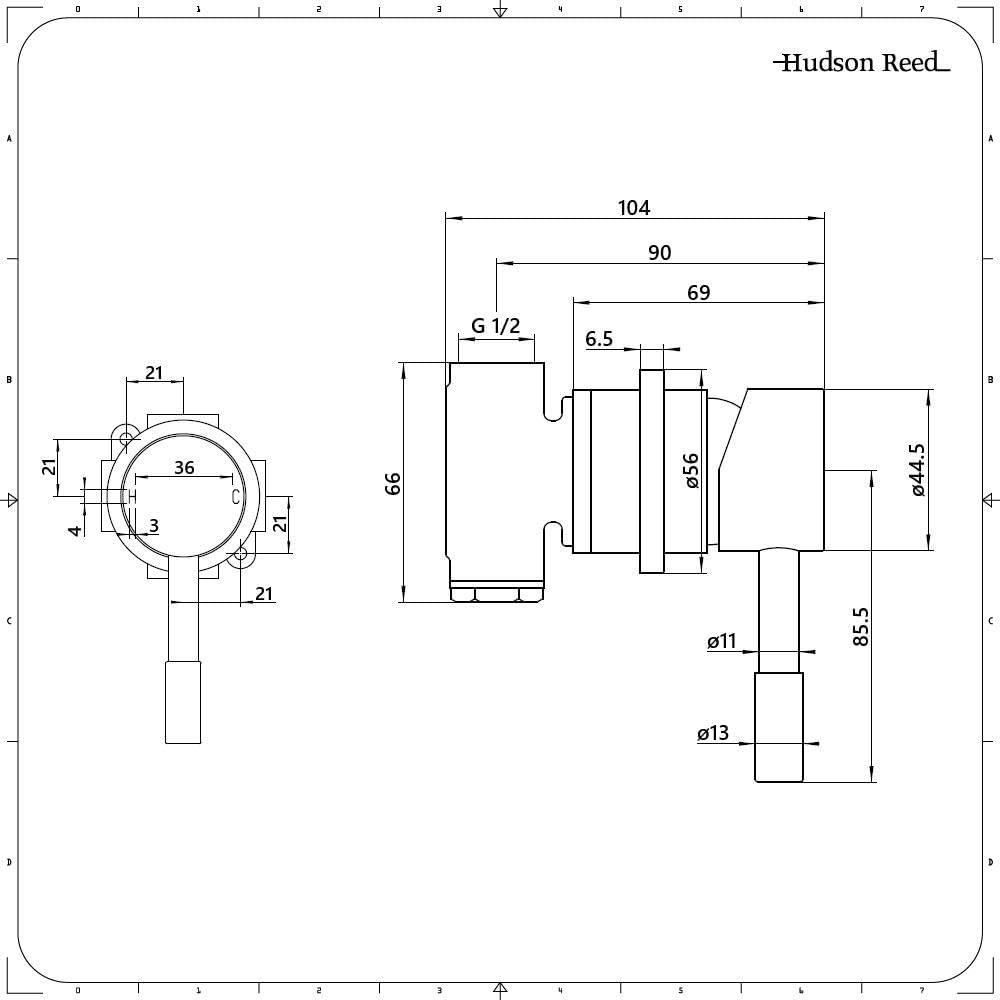 Nox Kit de Douche Hudson Reed Mitigeur M/écanique Encastrable et Pommeau de Douche /Ø30cm Noir