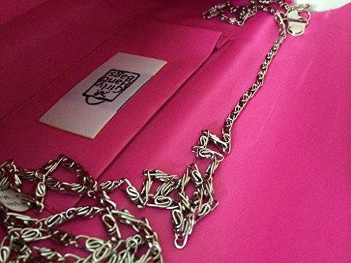 Fiesta De Embrague De Sintética Plisado Fucsia Bolsa Bolsos Gamuza Mujer Diseño Noche Femeninos qwU6SS4R