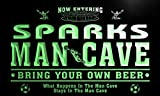 qd1464-g SPARKS Man Cave Soccer Football Bar Neon Beer Sign