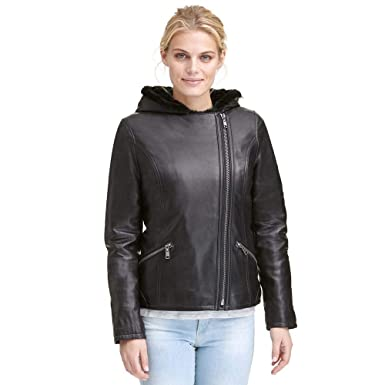 af0760fe9631 Wilsons Leather Womens Asymmetric Fauxfur Lined Leather Jacket at ...