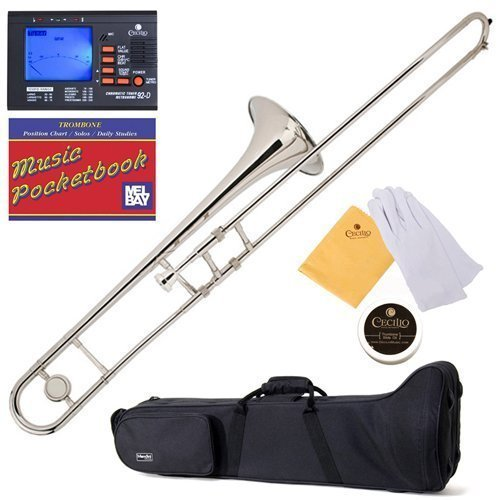 mendini-mtb-n-nickel-plated-b-flat-tenor-slide-trombone-with-tuner-case-mouthpiece-gloves-slide-grea