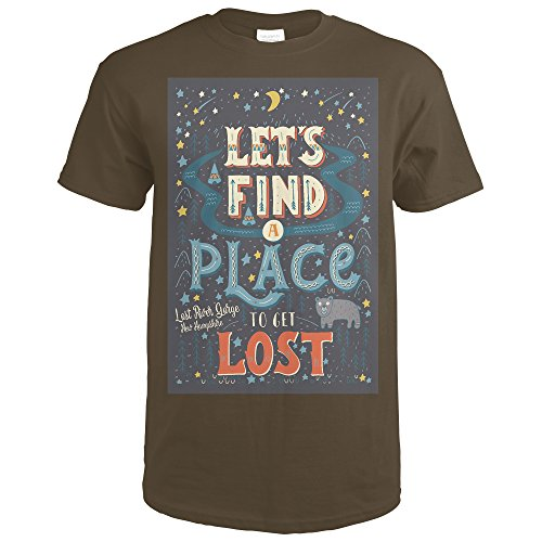 Lost River Gorge and Boulder Caves, New Hampshire - Lets Find a Place to Get Lost (Dark Chocolate T-Shirt Small) Boulder Small Wall Lantern