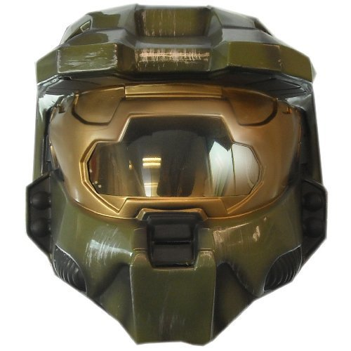 Halo 3 Deluxe Master Chief Mens Costume (Deluxe HALO 3 Master Chief Helmet Costume Accessory)