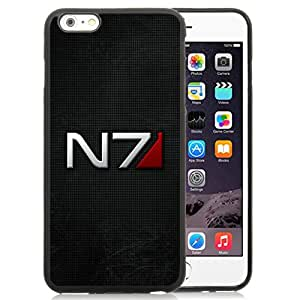 Fashionable And Nice Designed Case For iPhone 6 Plus 5.5 Inch TPU With Mass Effect N7 Font Background Shadow Black Phone Case