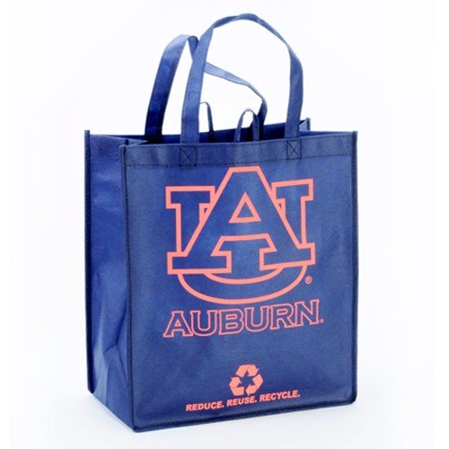 Auburn Printed Non-Woven Polypropylene Reusable Grocery Tote Bag