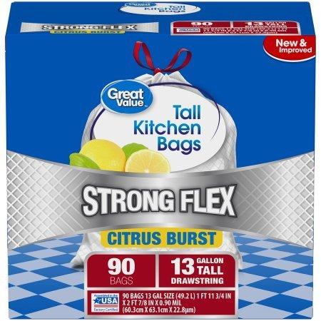 Amazon.com: Gran valor fuerte Flex Tall Cocina bolsas de ...