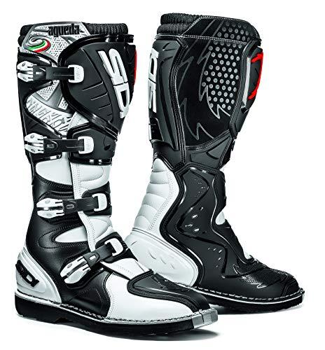 (Sidi Agueda Boots (10/44, Black/White) )