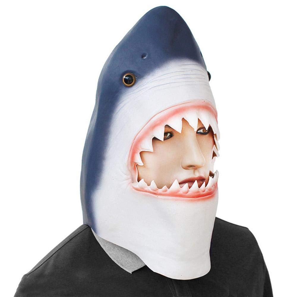 Circlefly Máscara de Halloween Peluca látex Alta mar tiburón Grande mascarilla niños Divertidos: Amazon.es: Jardín