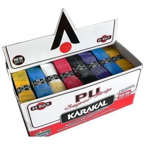 KARAKAL PU Super Grips Box Of 24 Racket Grip MULTI Colr by Karakal