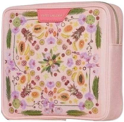 Estee Lauder - Neceser, diseño de frutas y flores, color rosa: Amazon.es: Belleza