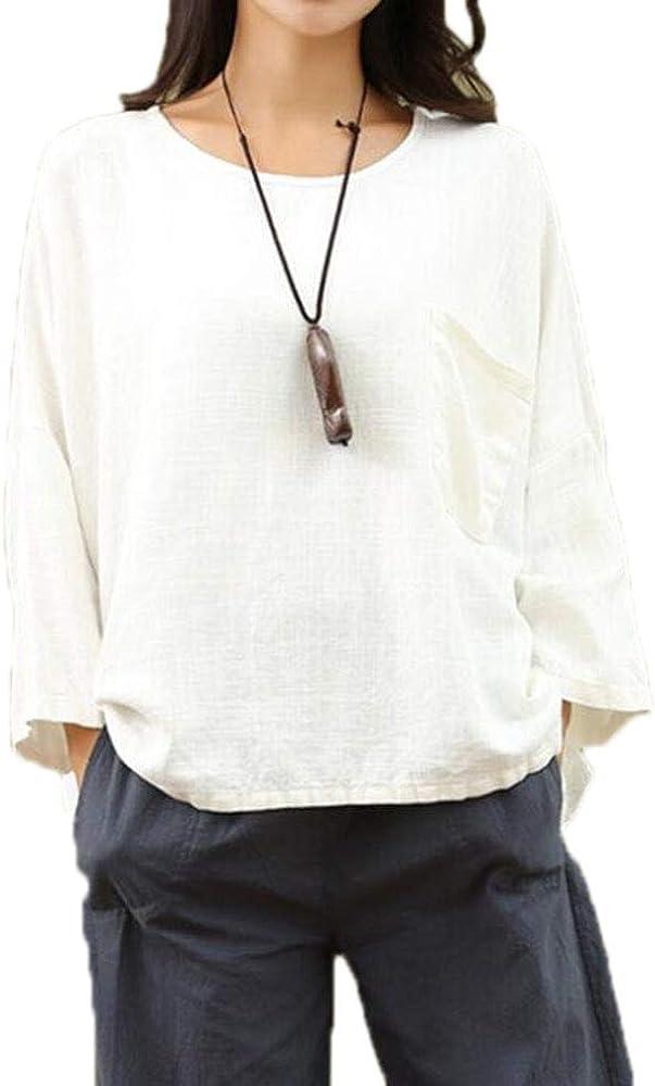 Hellomiko Pantalón De Lino Ancho para Mujer + Camisa De Lino + Conjunto De Rebeca Larga (Opcional): Amazon.es: Ropa y accesorios