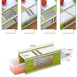 Highdas Multi Gemüsehobel & Reibe Küche Set -Kommt mit Behälter, Speisen...