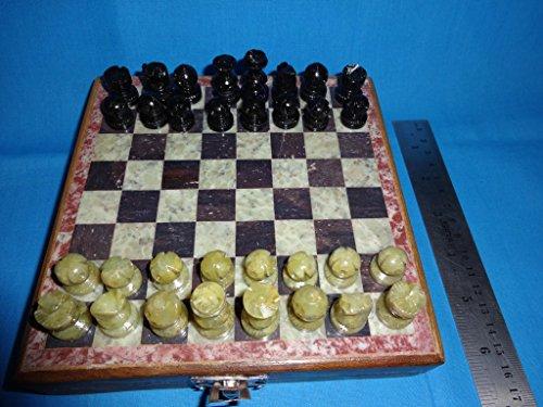 Juego de ajedrez de mármol tallado a mano Gorara piezas de piedra Play & Gifts