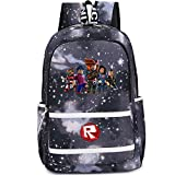 SP Cos Roblox Kids Schoolbag Backpack Students Bookbag Handbags Travelbag (RB-M-grey 1)