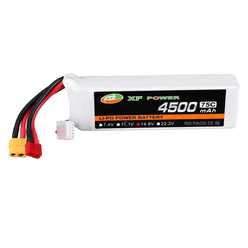 XF Power 14.8V 1300mah 45C 4S Lipo Battery T Plug