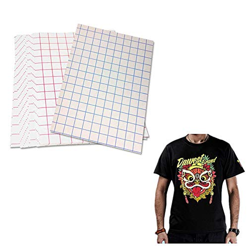 YURROAD 5 Sheets Dark T-Shirt Transfers Matte Sheets Inkjet Heat Transfer Paper Size 8.5 X 11